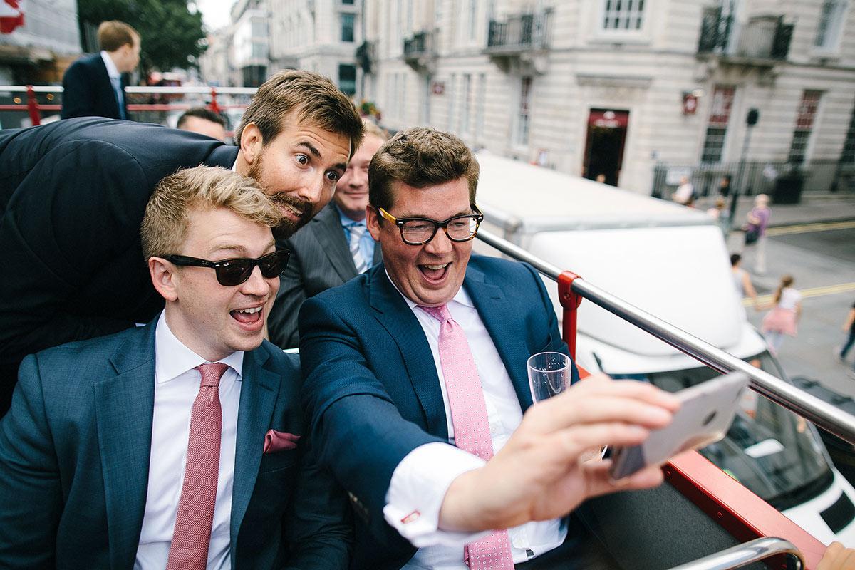 wedding photography london bus