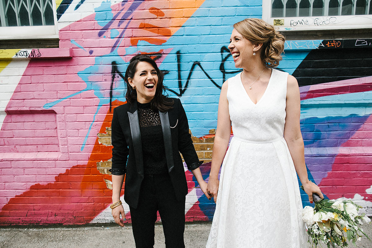 shoreditch same sex wedding