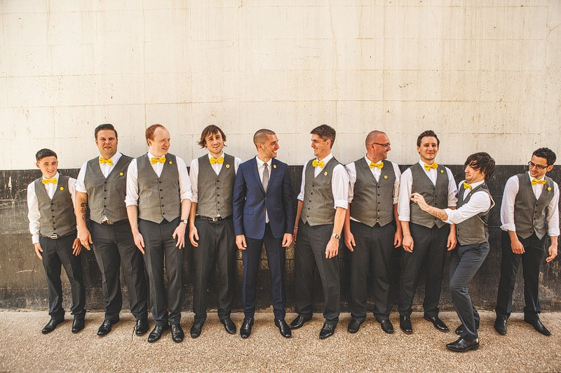 yellow bow tie wedding photographer