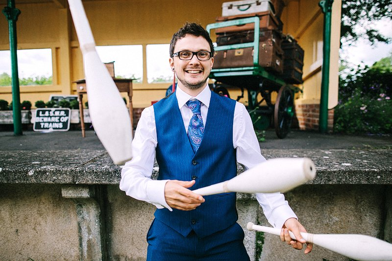 horsebridge station wedding