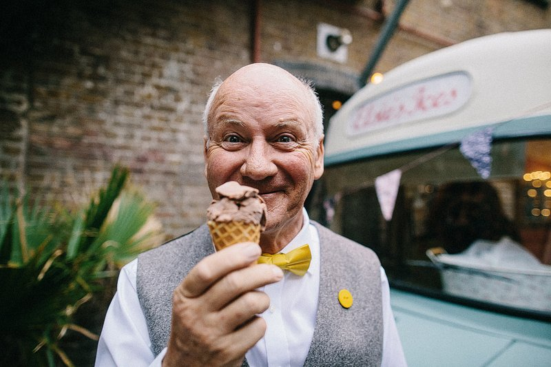 fun yellow london wedding