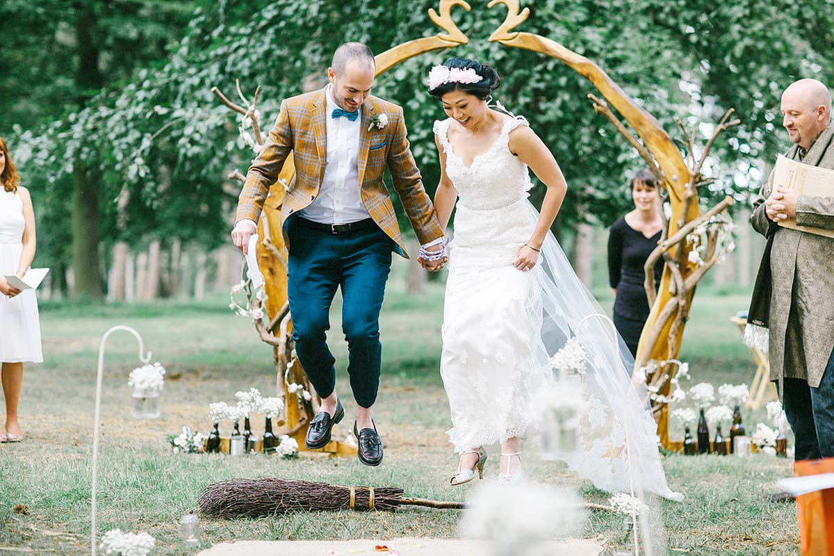 humanist woodland wedding