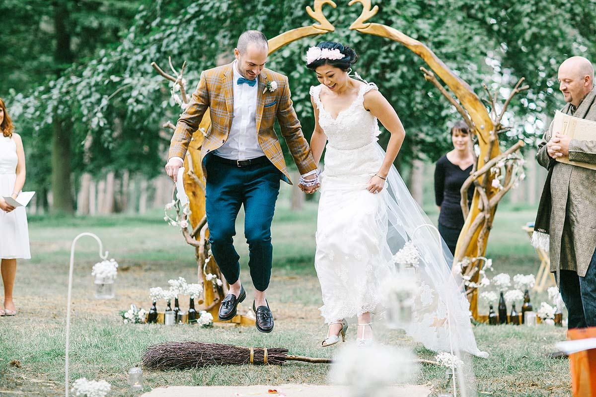 humanist woodland wedding