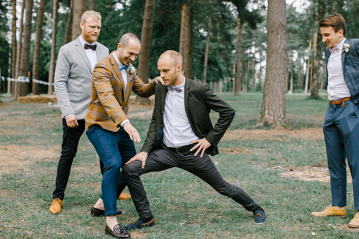 modern vintage groomsmen suits