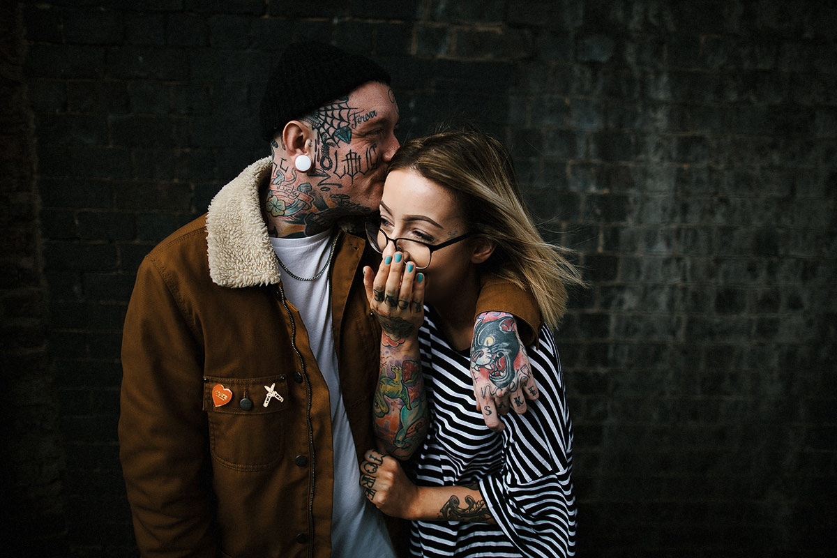 tattoo couple shoot