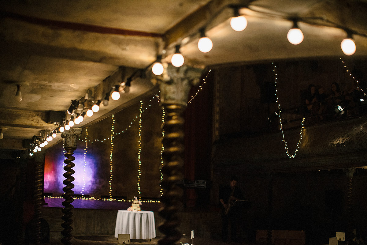 wedding at wilton's music hall