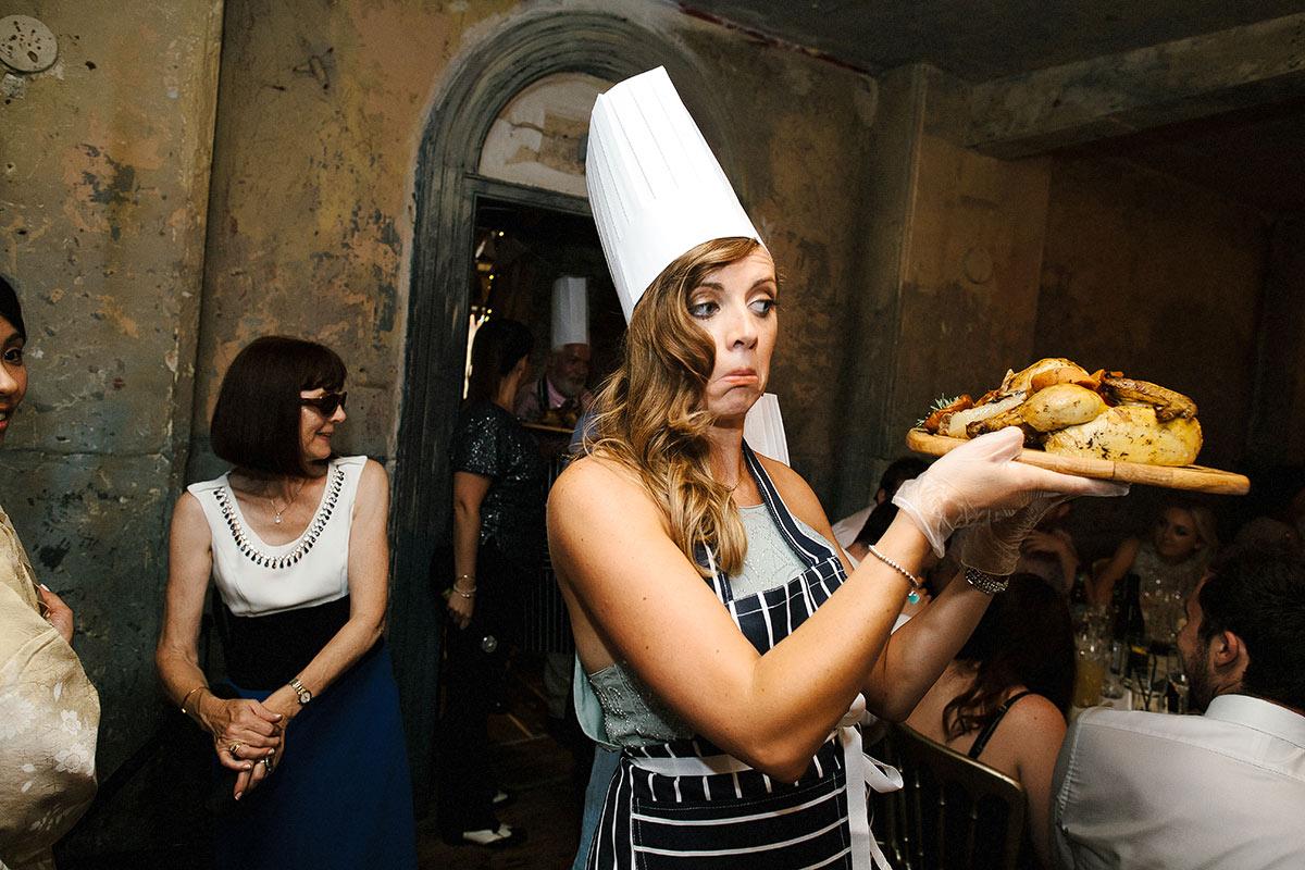 chefs hat wedding