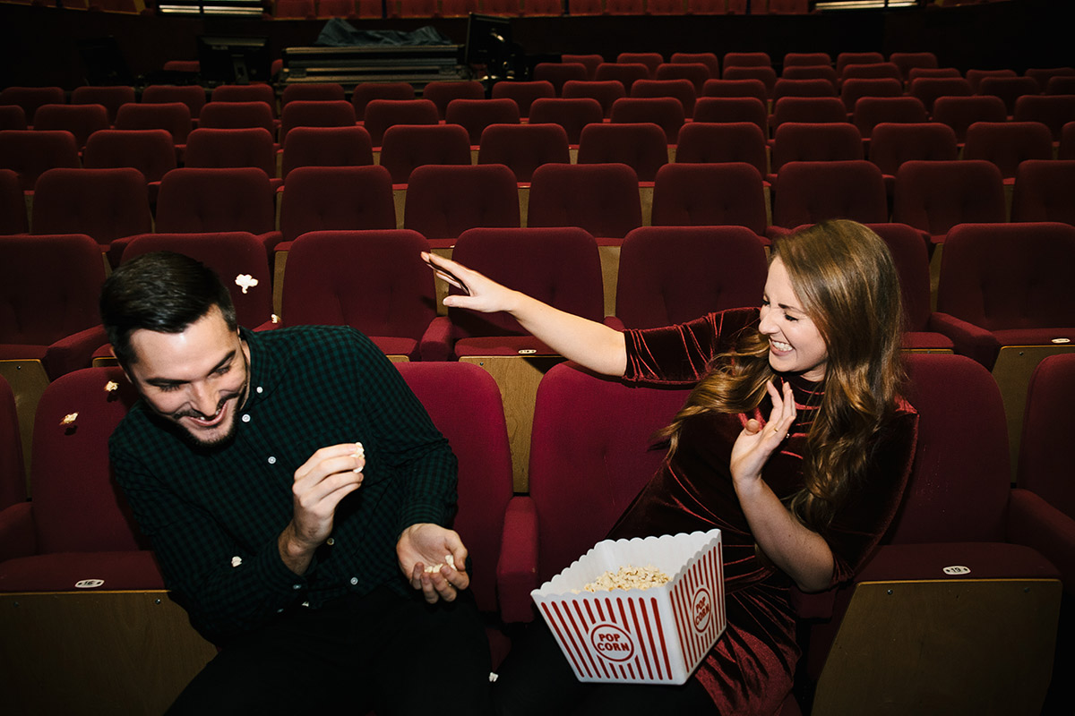 cinema couples shoot