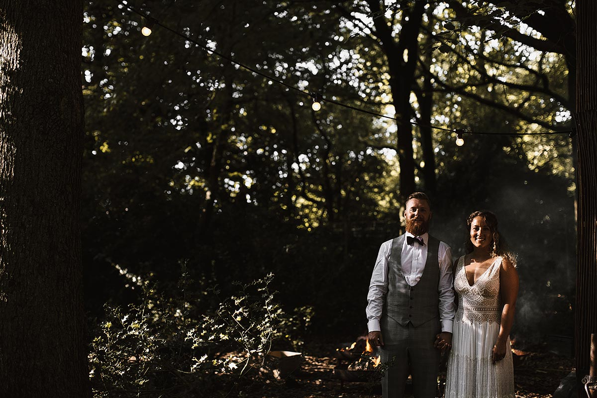 lila's wood wedding