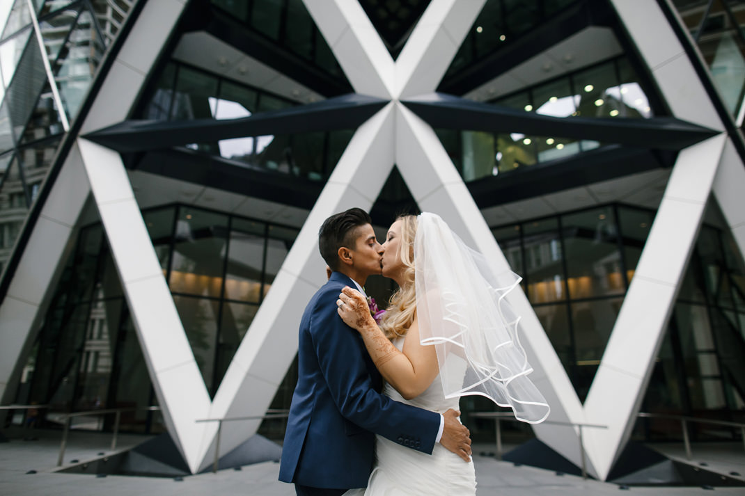 same sex wedding at the gherkin