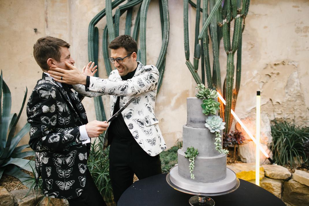 brutalist wedding