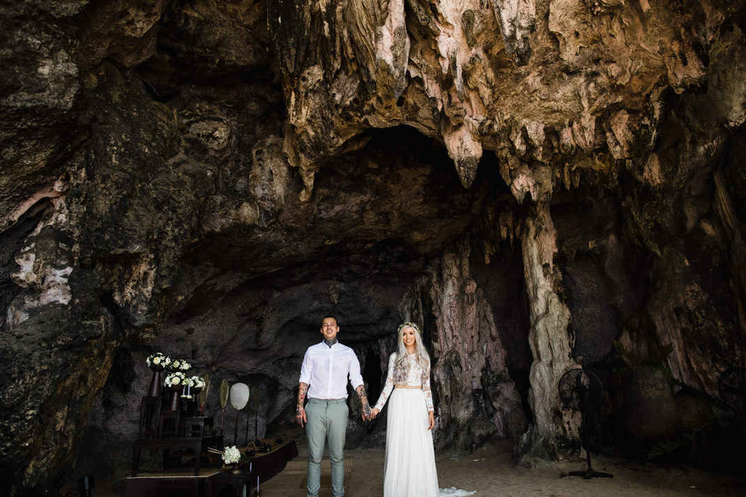 quirky cave wedding